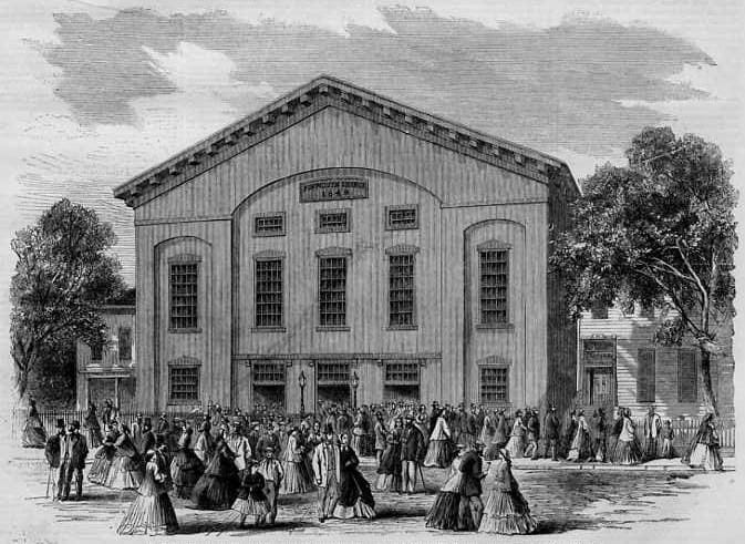 """Plymouth Church in 1800's Downtown Brooklyn - """"Grand Central Depot"""" for slaves en route to Canada as part of the Underground Railroad."""